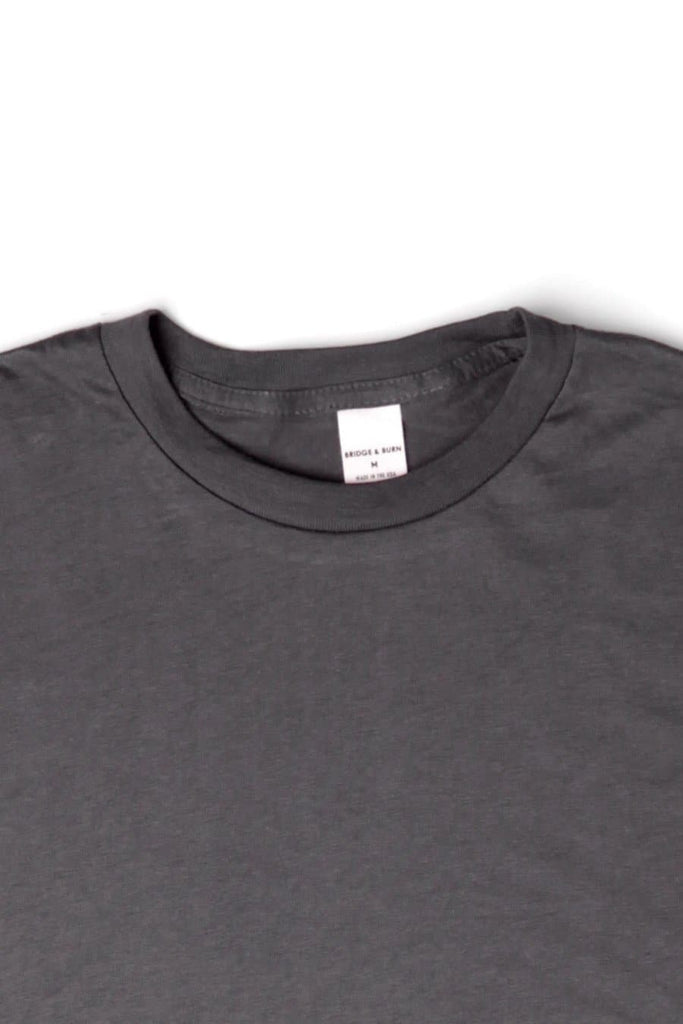 Men's Bridge & Burn Basic Tee Charcoal