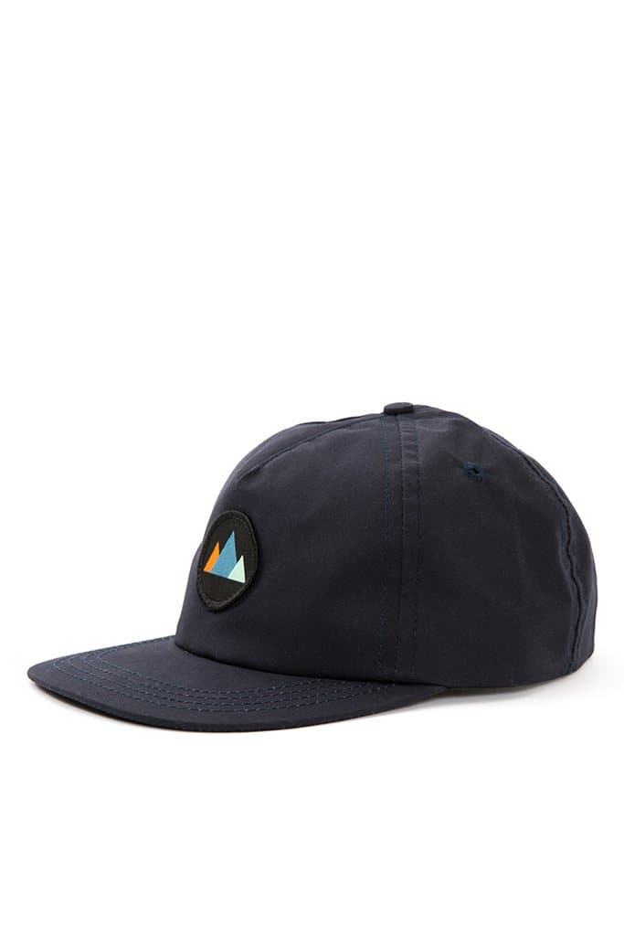 Mtns Trucker Cap Navy Waxed Canvas