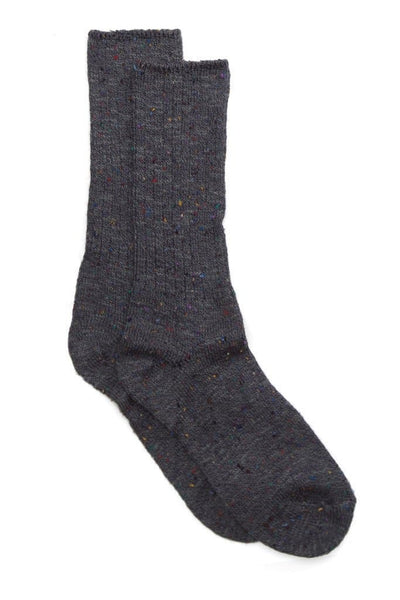 Two Feet Ahead Tweed Calf High Charcoal