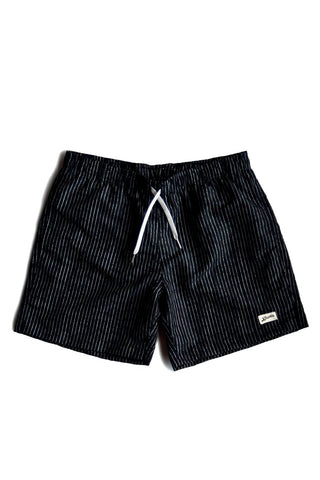 Bather Boardshorts Pinstripe Black