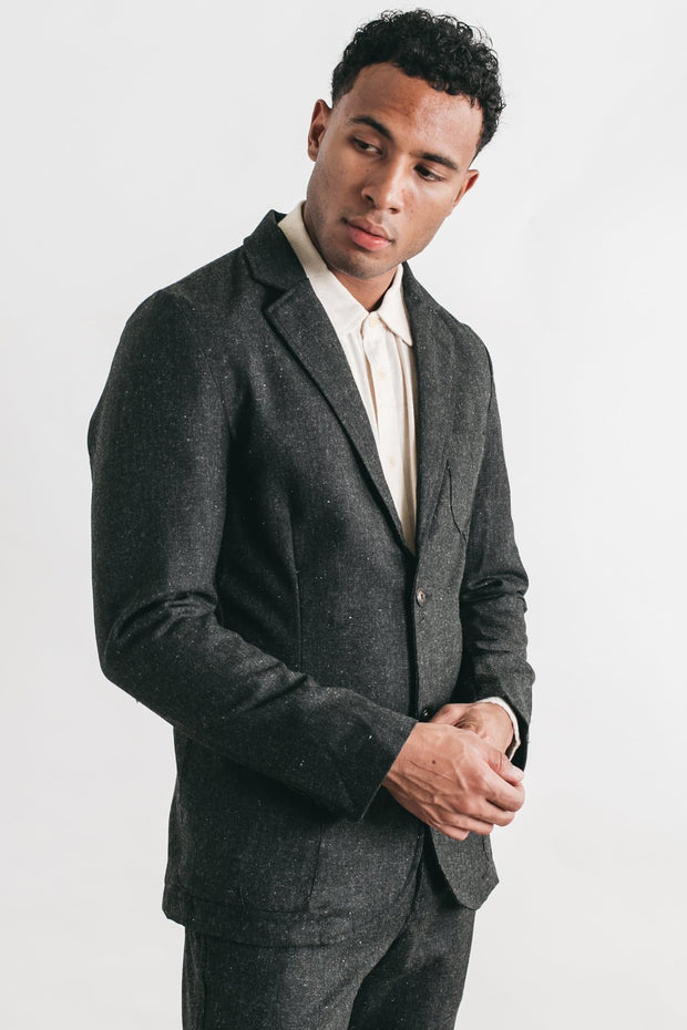 Corridor Charcoal Tweed Lined Blazer