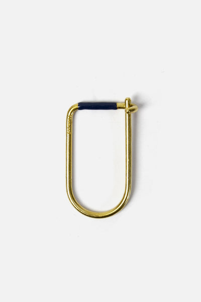 Craighill Wilson Key Ring Brass Blue