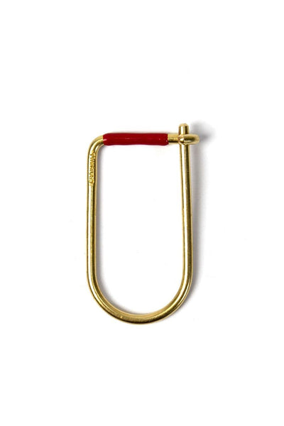 Craighill Wilson Key Ring Brass Red