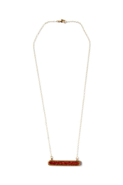 Dea Dia Fissure Necklace Red Opal
