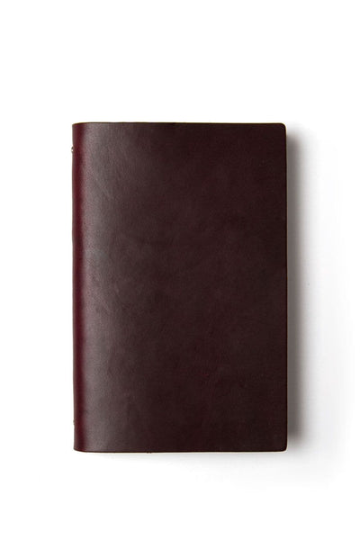 Goby Design Leather Notebook Burgundy