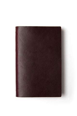 Goby Designs Leather Notebook Burgundy