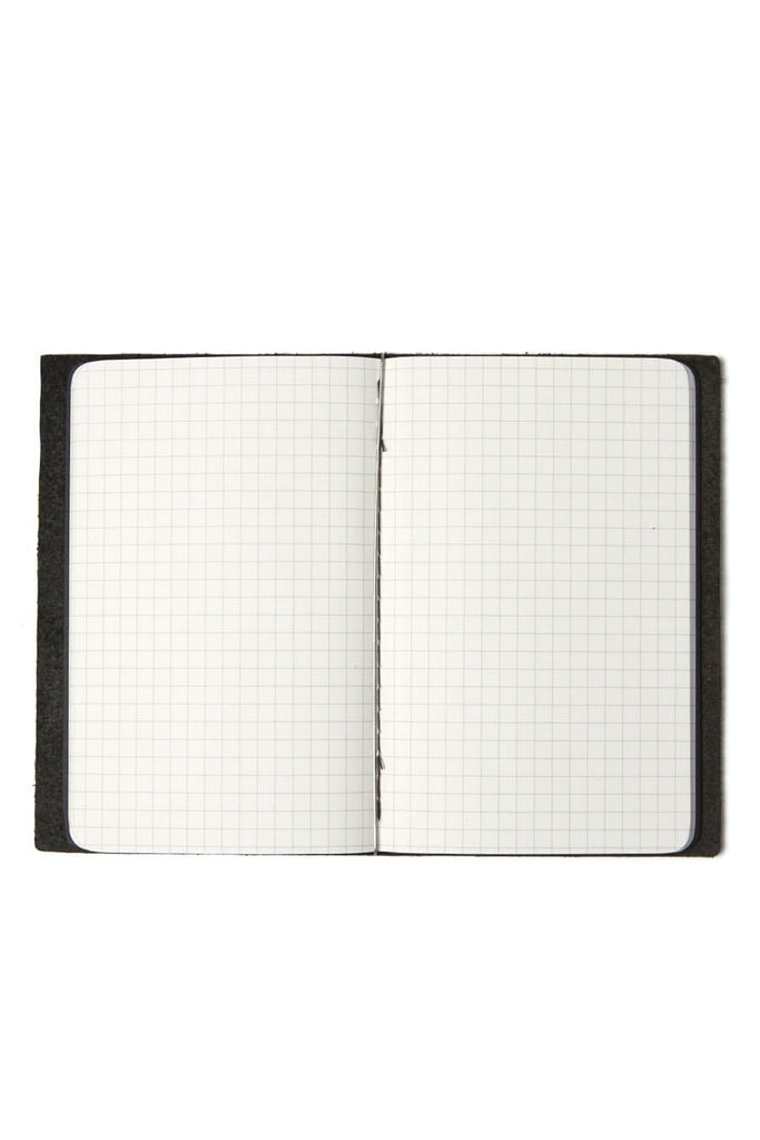 Goby Design Leather Notebook Midnight Black