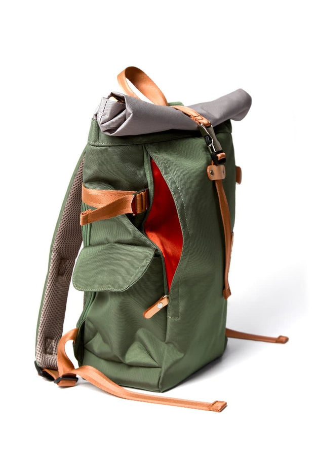Harvest Label Rolltop Backpack Olive