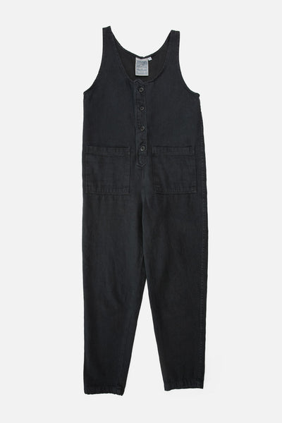 Organic cotton and hemp jumpsuit black