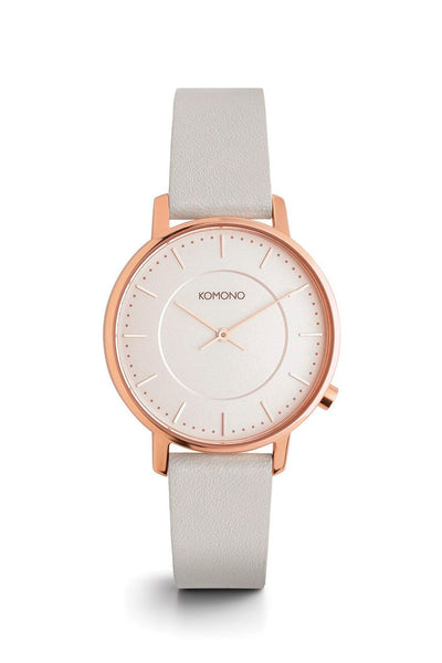 Komono Harlow Rose Gold White