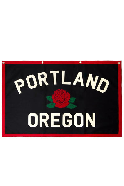 Oxford Pennant Flag Portland Rose