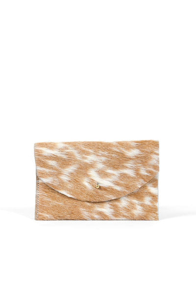 Primecut Passport Clutch Caramel Speckle