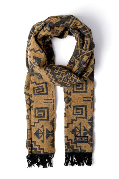 Pendleton Jacquard Scarf Warrior Rock Tan