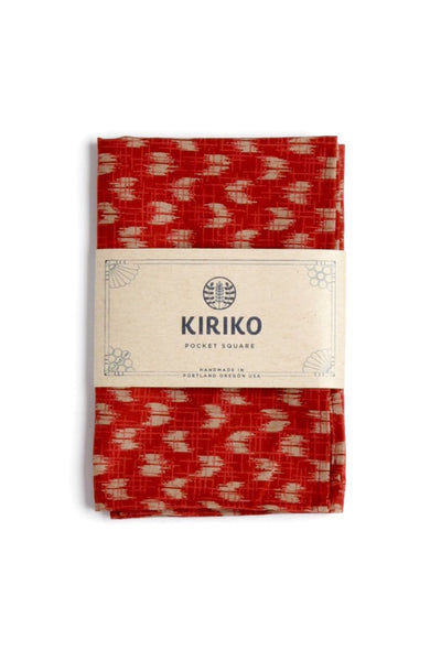 Kiriko Red Yagasuri Pocket Square