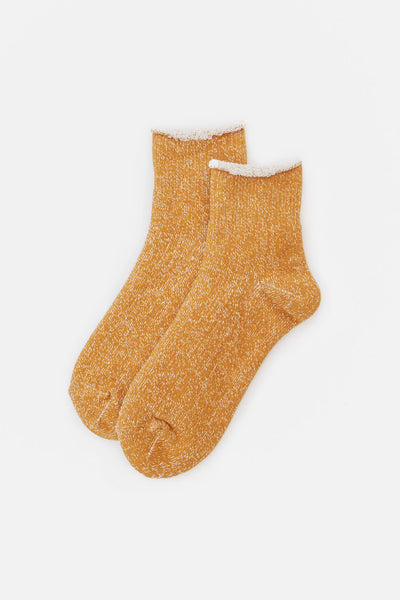 Rototo Double Face Double Face Ankle Socks Dark Yellow