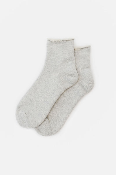 Rototo Double Face Double Face Ankle Socks Grey