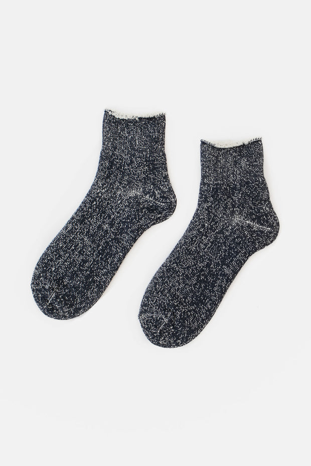 Rototo Double Face Double Face Ankle Socks Navy