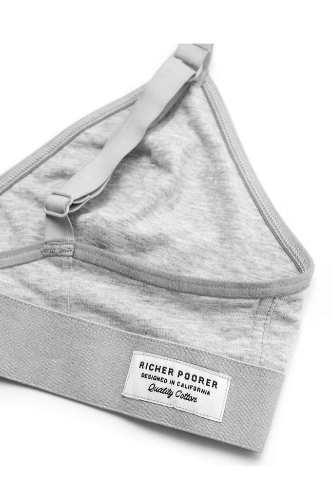 Richer Poorer Bralette Heather Grey