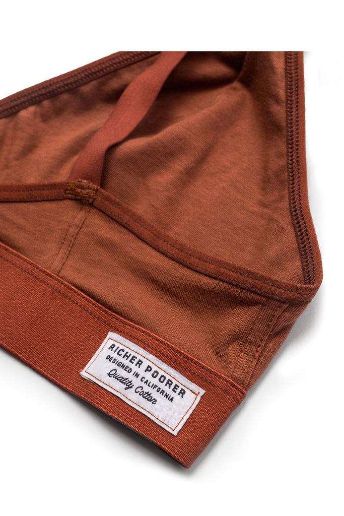 Richer Poorer Bralette Tobacco Brown