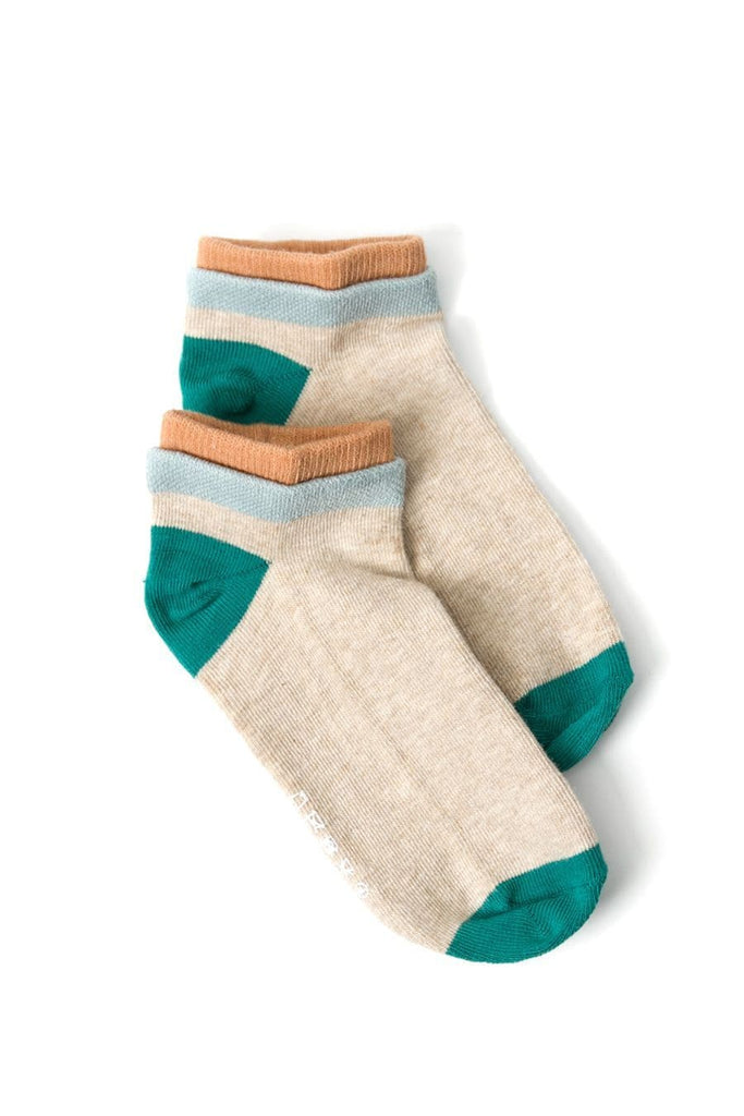 Richer Poorer Cassat Socks Oatmeal Lagoon
