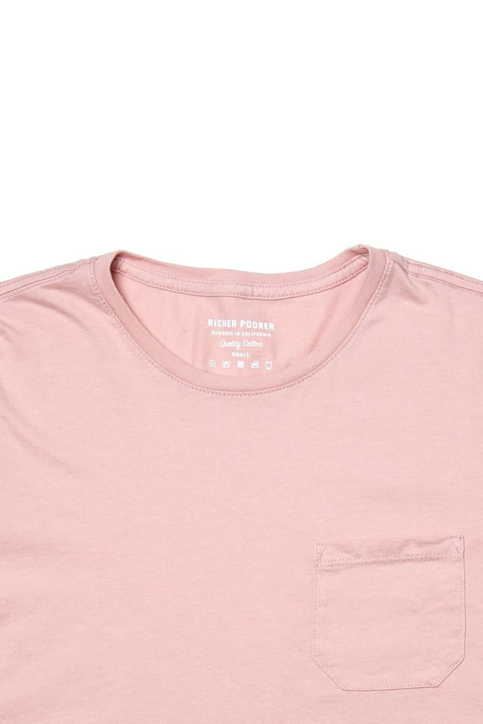 Richer Poorer Boxy Crop Pocket Tee Blush