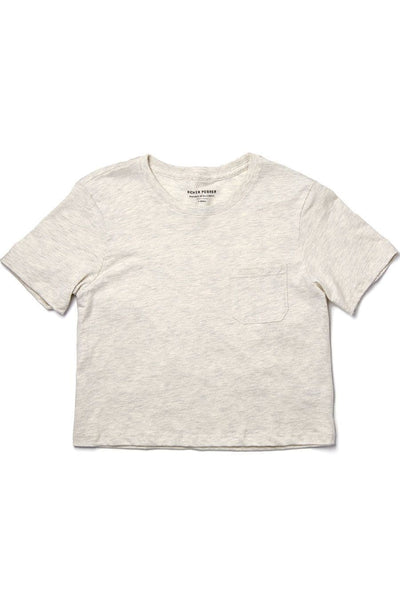 Richer Poorer Boxy Crop Tee Oatmeal