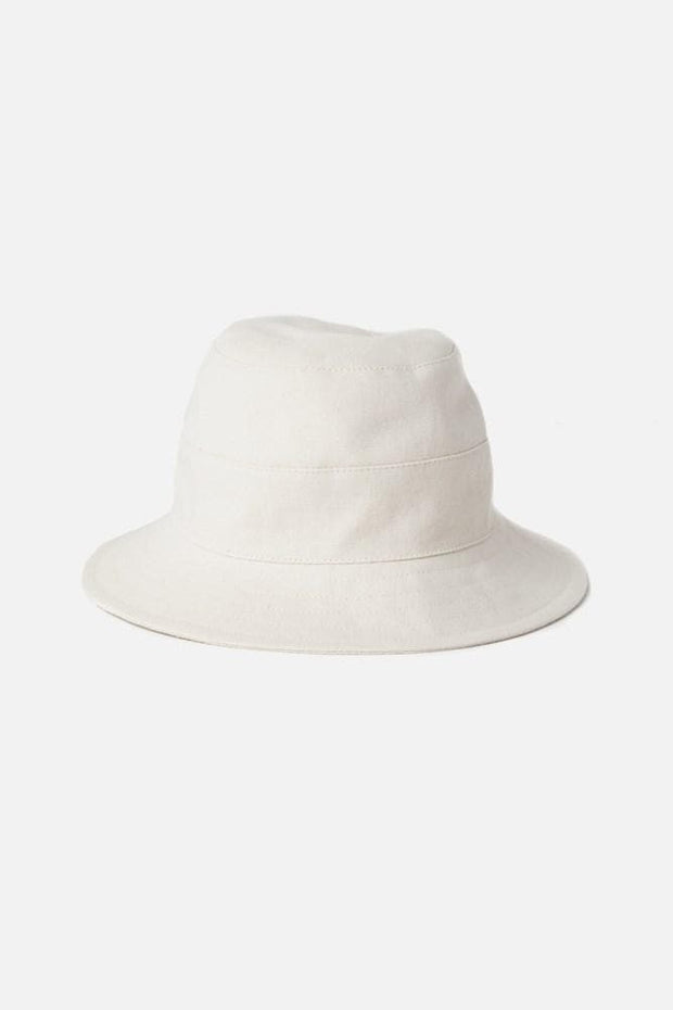 Tsuyumi Cotton Canvas Bucket Hat Cream