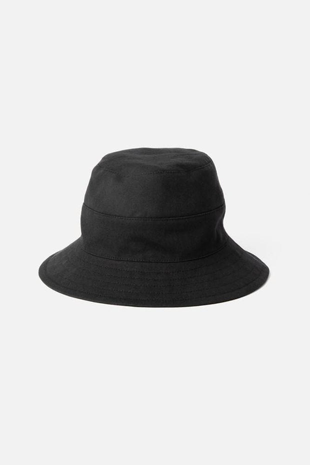 Tsuyumi Cotton Canvas Bucket Hat Black