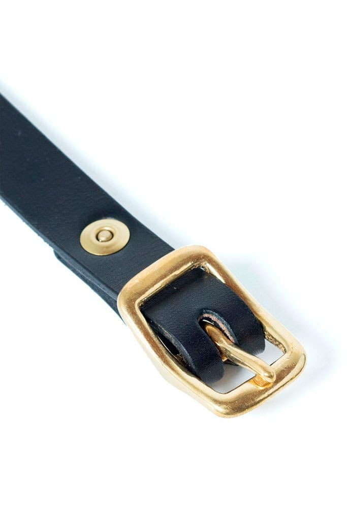 Wood&Faulk Matchstick Belt Black