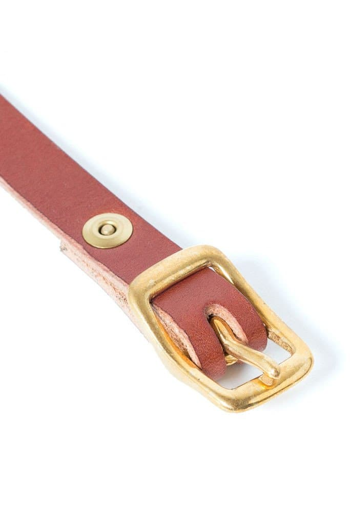 Wood & Faulk Matchstick Belt Cognac