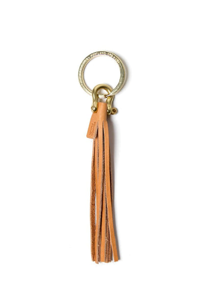 Wood&Faulk Fringe Key Fob Natural