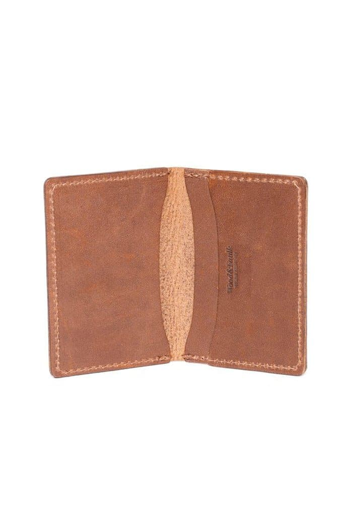Wood&Faulk Front Pocket Wallet Natural Brown Chromexcel