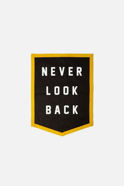 Bridge & Burn x Oxford Pennant Banner Never Look Back