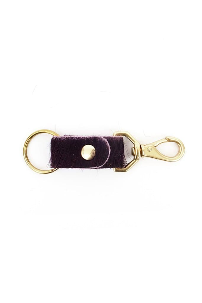 Primecut Keychain Grape Cowhide