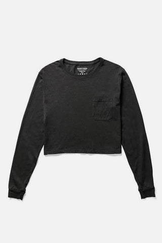 Richer Poorer Long Sleeve Crop Black