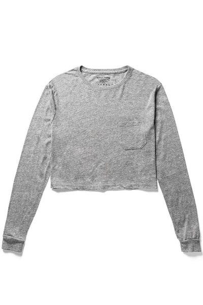 Richer Poorer Long Sleeve Crop Heather Grey