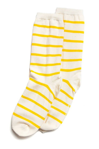 Richer Poorer Nora Socks White Yellow