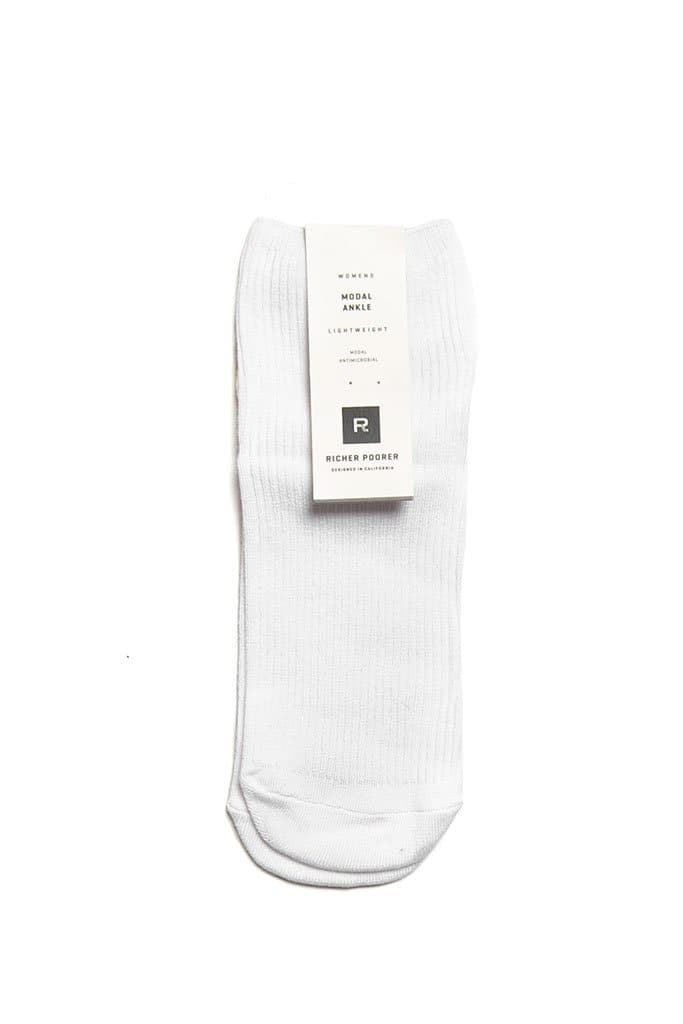 Richer Poorer Smiles Socks White