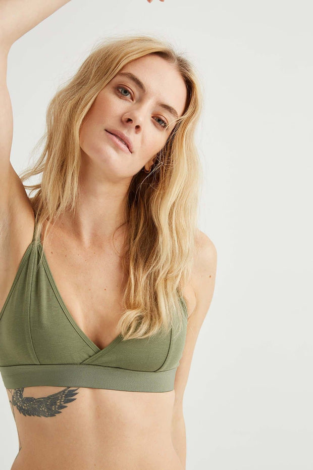 Richer Poorer Classic Bralette Supply Green