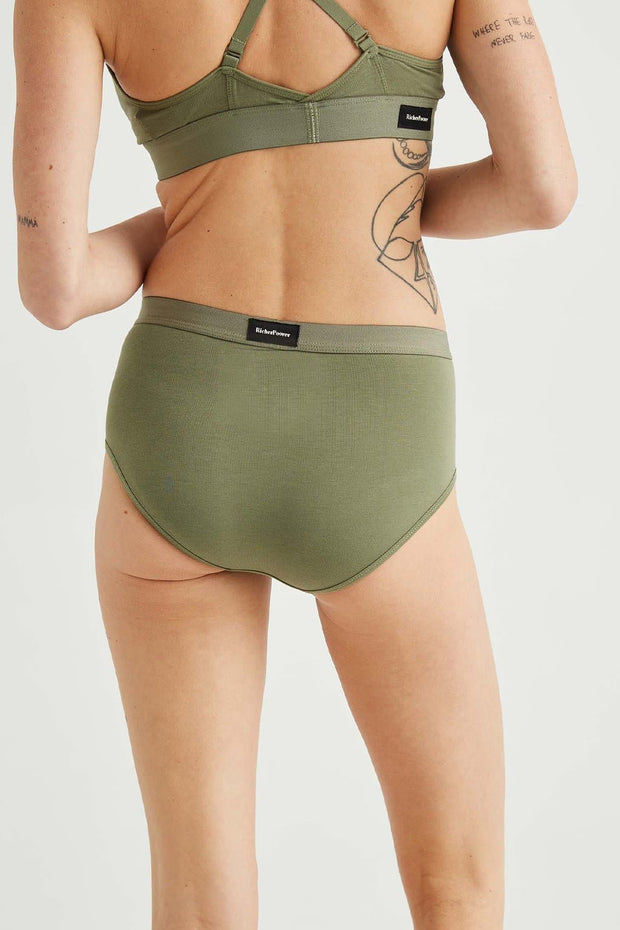Richer Poorer High Waist Brief Surplus Green