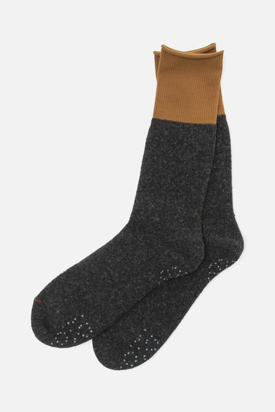 RoToTo Thermal Fleece Socks Charcoal Olive