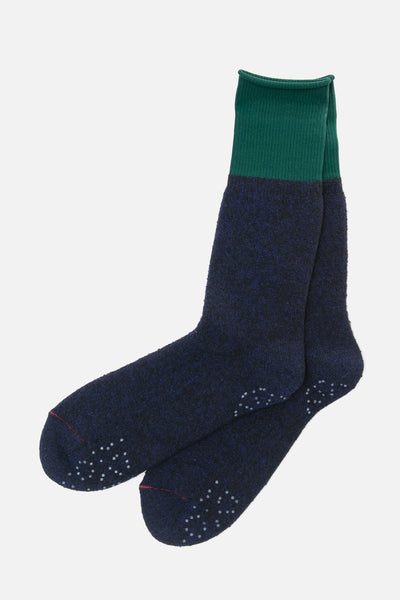 RoToTo Thermal Fleece Socks Navy Dark Green