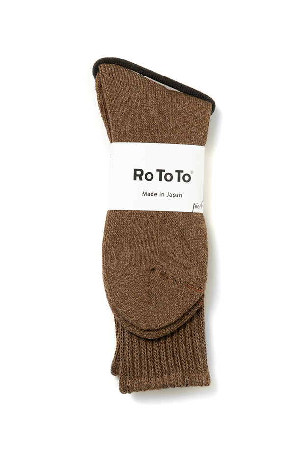 RoToTo Loose Pile Socks Brown