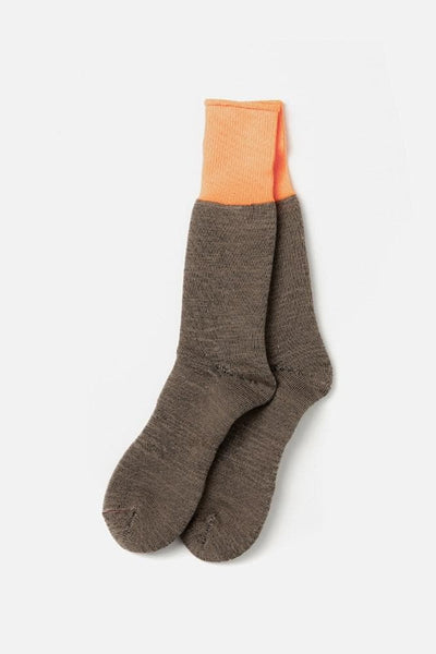 RoToTo Yoo-Hoo Socks Orange Beige