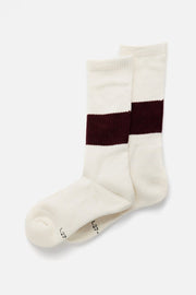 RoToTo Silk Cotton Classic Crew Socks Burgundy