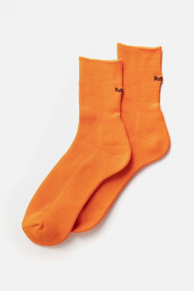 "RoToTo Rib Pile Mid Socks ""Cool Max"" Orange"