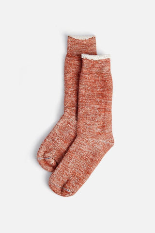 RoToTo Doubleface Crew Socks Orange Marl