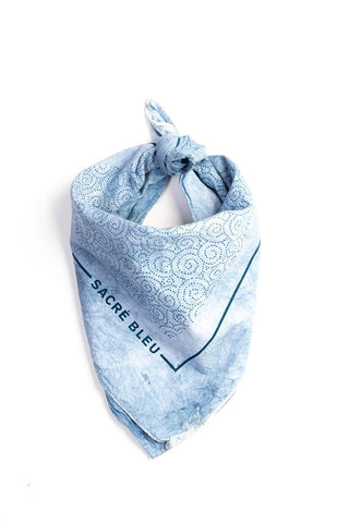 Sacre Bleu Light Geometric Indigo Dyed Bandanas