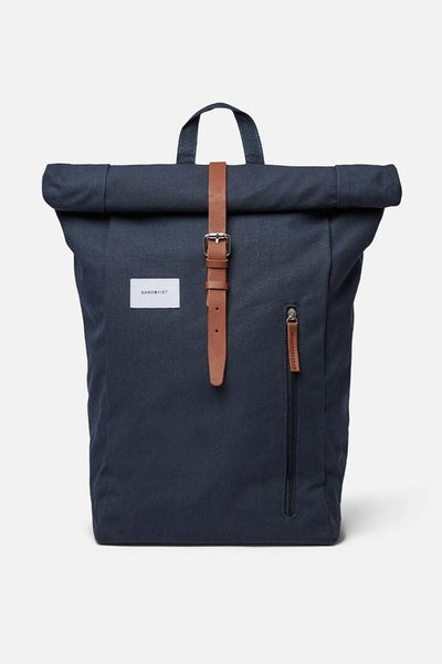 Sandqvist Dante Backpack Navy Cognac