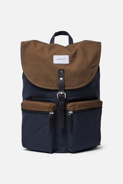 Sandqvist Roald Backpack Multi Navy Olive Black